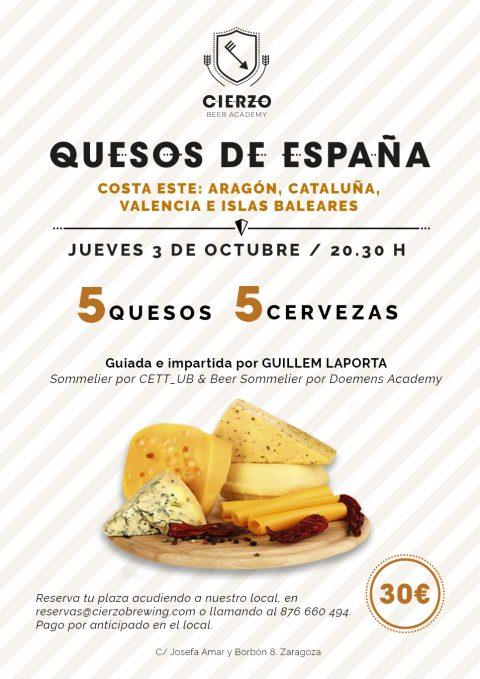 cata cena quesos españoles aragoneses cerveza artesana