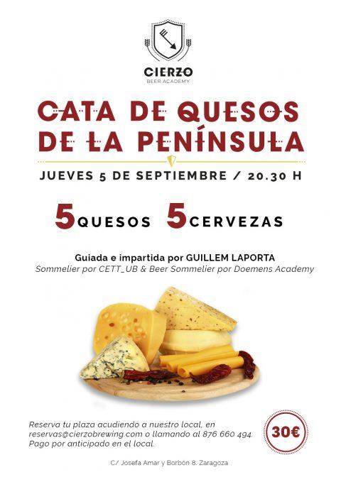 cata quesos españoles cerveza zaragoza