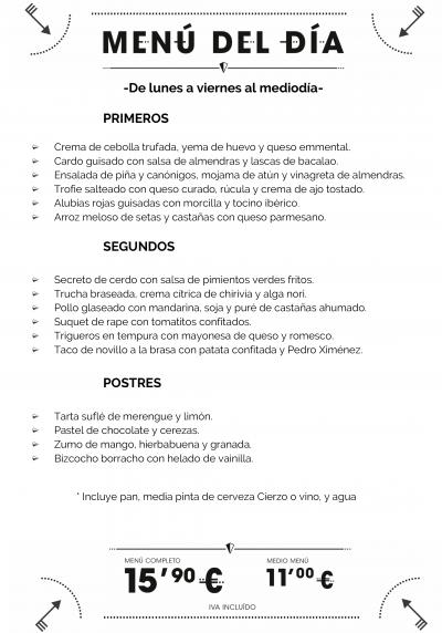 menu del dia zaragoza comer