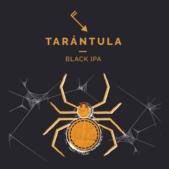tarántula black ipa cerveza zaragoza