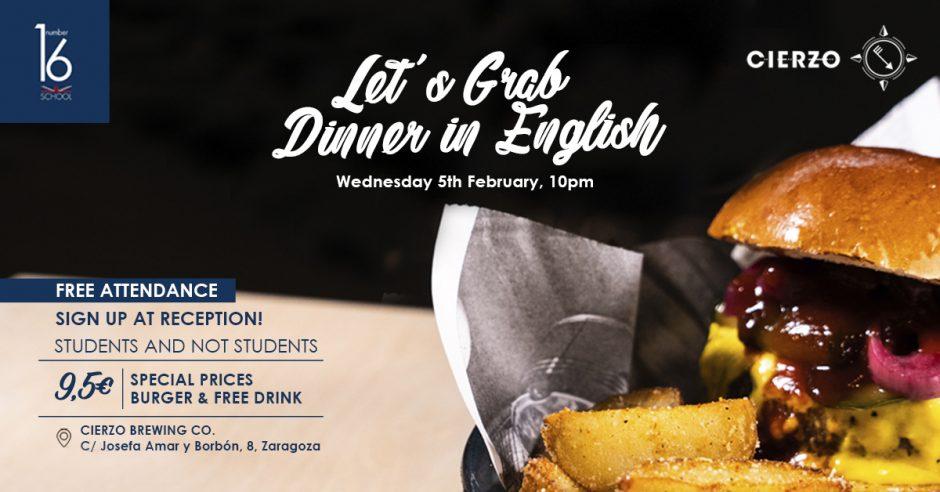 cena burger tertulia inglés
