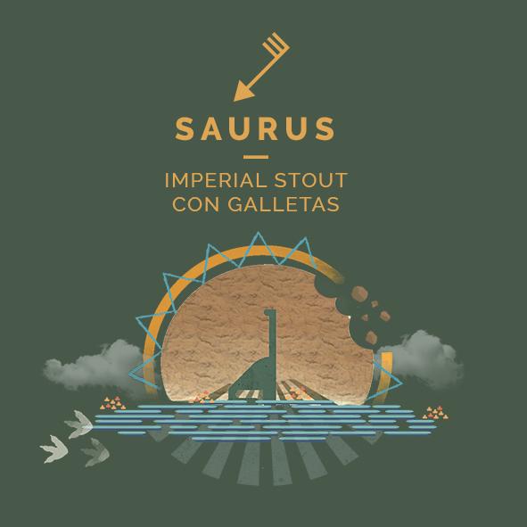 saurus imperial stout galletas cerveza zaragoza