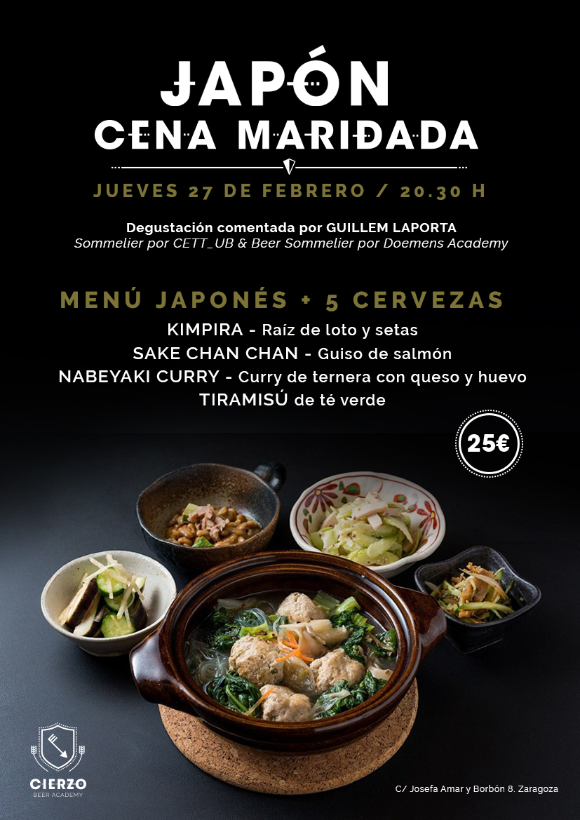 cena japonesa cerveza zaragoza