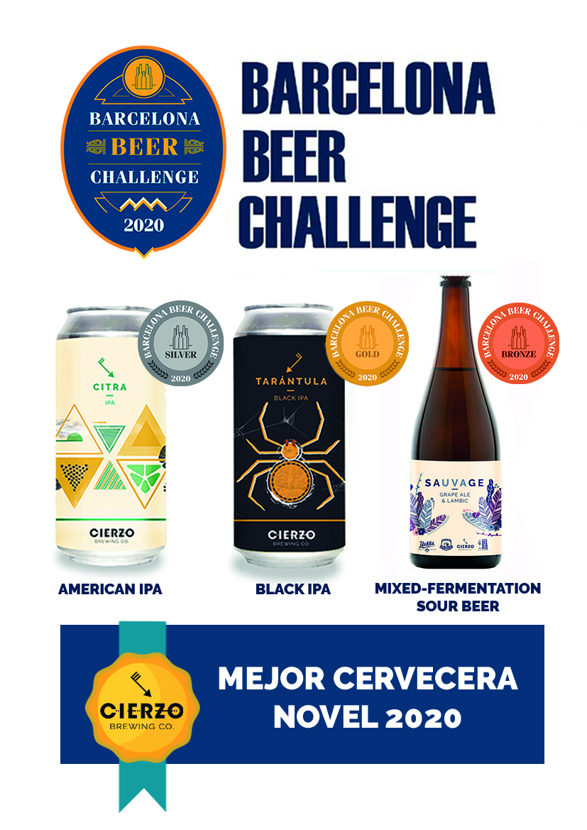 barcelona beer challenge mejor cervecera novel cierzo