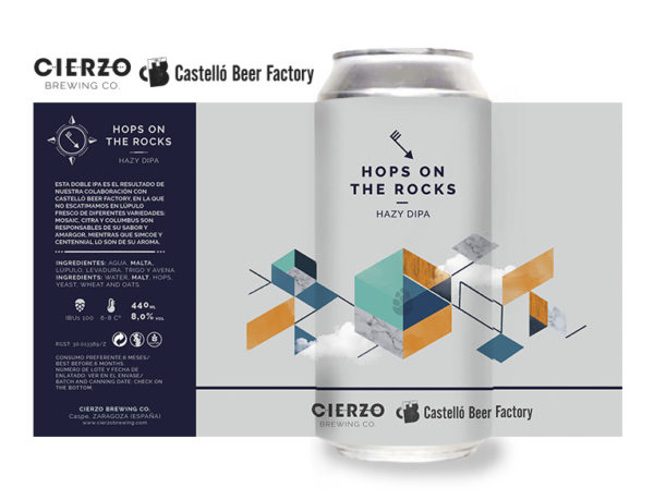hops on the rocks hazy doble ipa cerveza zaragoza