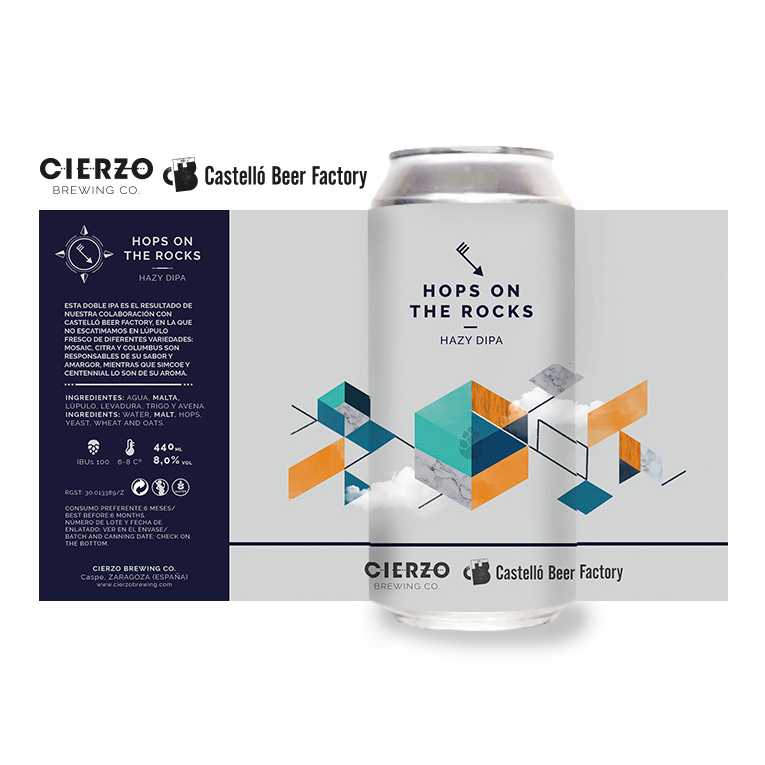 hops on the rocks cerveza hazy doble ipa zaragoza