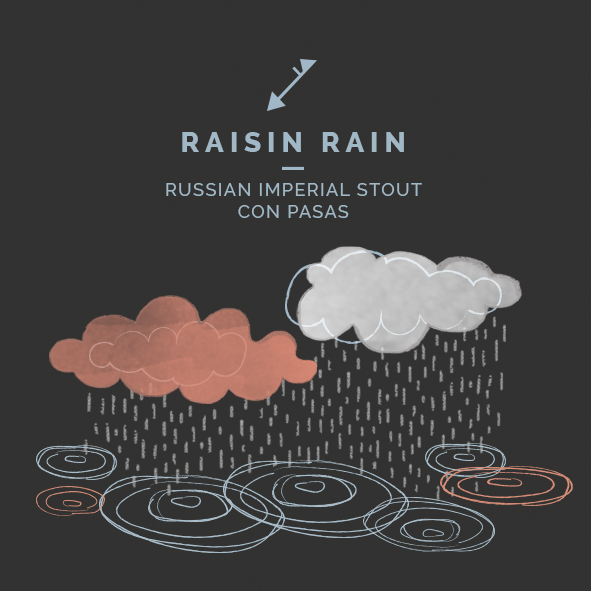 raisin rain cerveza imperial stout pasas zaragoza