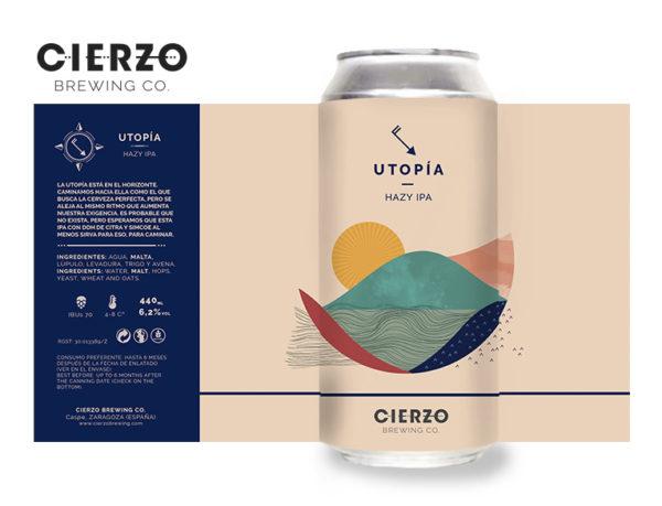 utopia hazy ipa cerveza zaragoza