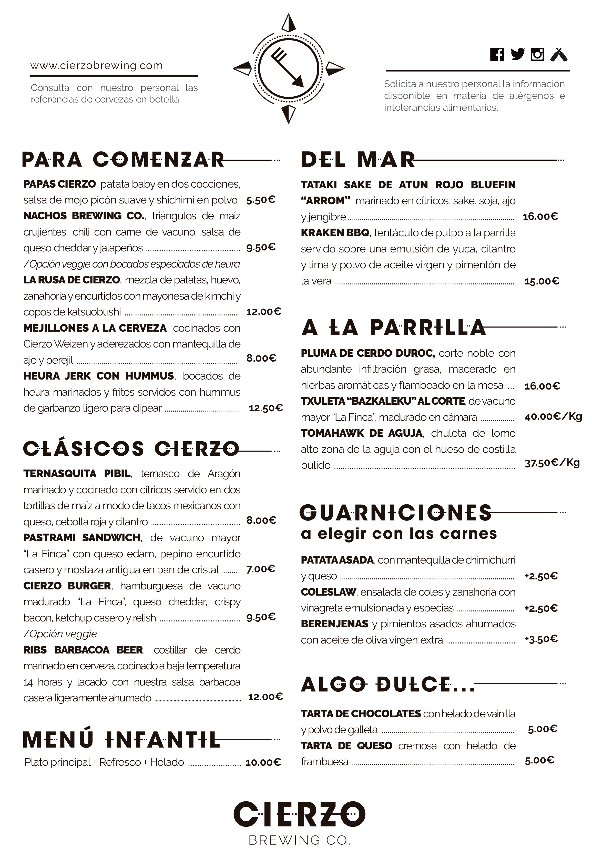 menu restaurante zaragoza comer cenar