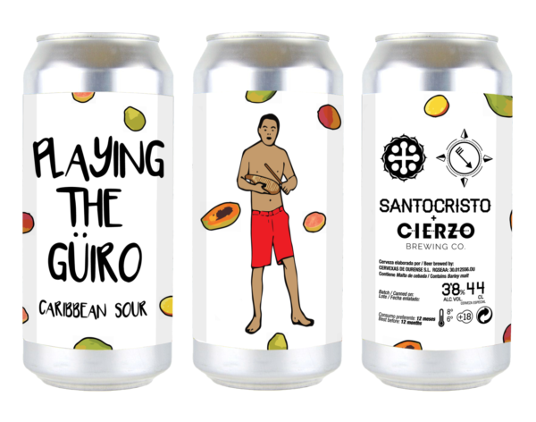 cerveza playing the güiro caribbean sour santo cristo zaragoza