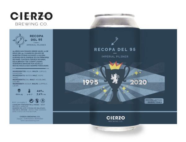 cerveza zaragoza recopa del 95