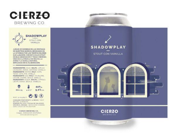 cerveza shadowplay stout vainilla zaragoza