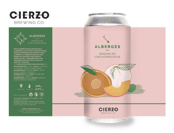 alberges session ipa albaricoque cerveza zaragoza