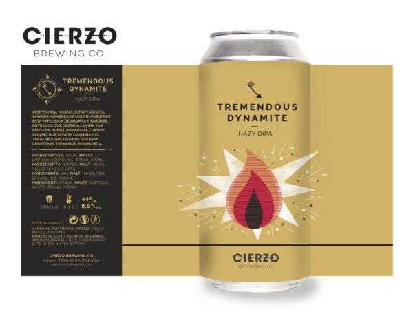 tremendous dynamite hazy dipa cerveza zaragoza