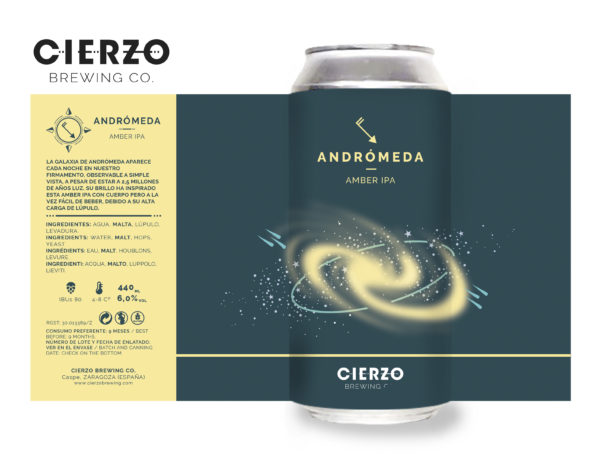 cerveza andromeda amber ipa zaragoza