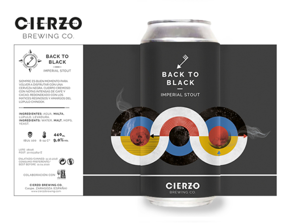 cerveza back to black imperial stout zaragoza
