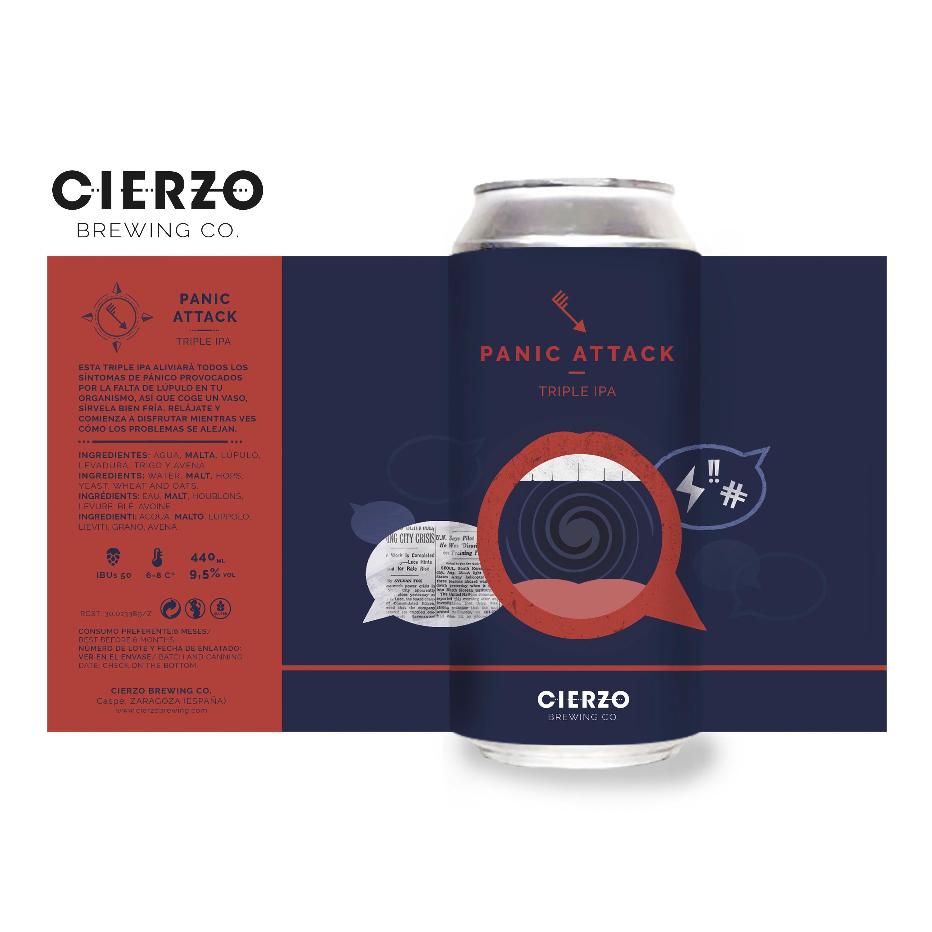 cerveza panic attack triple ipa zaragoza