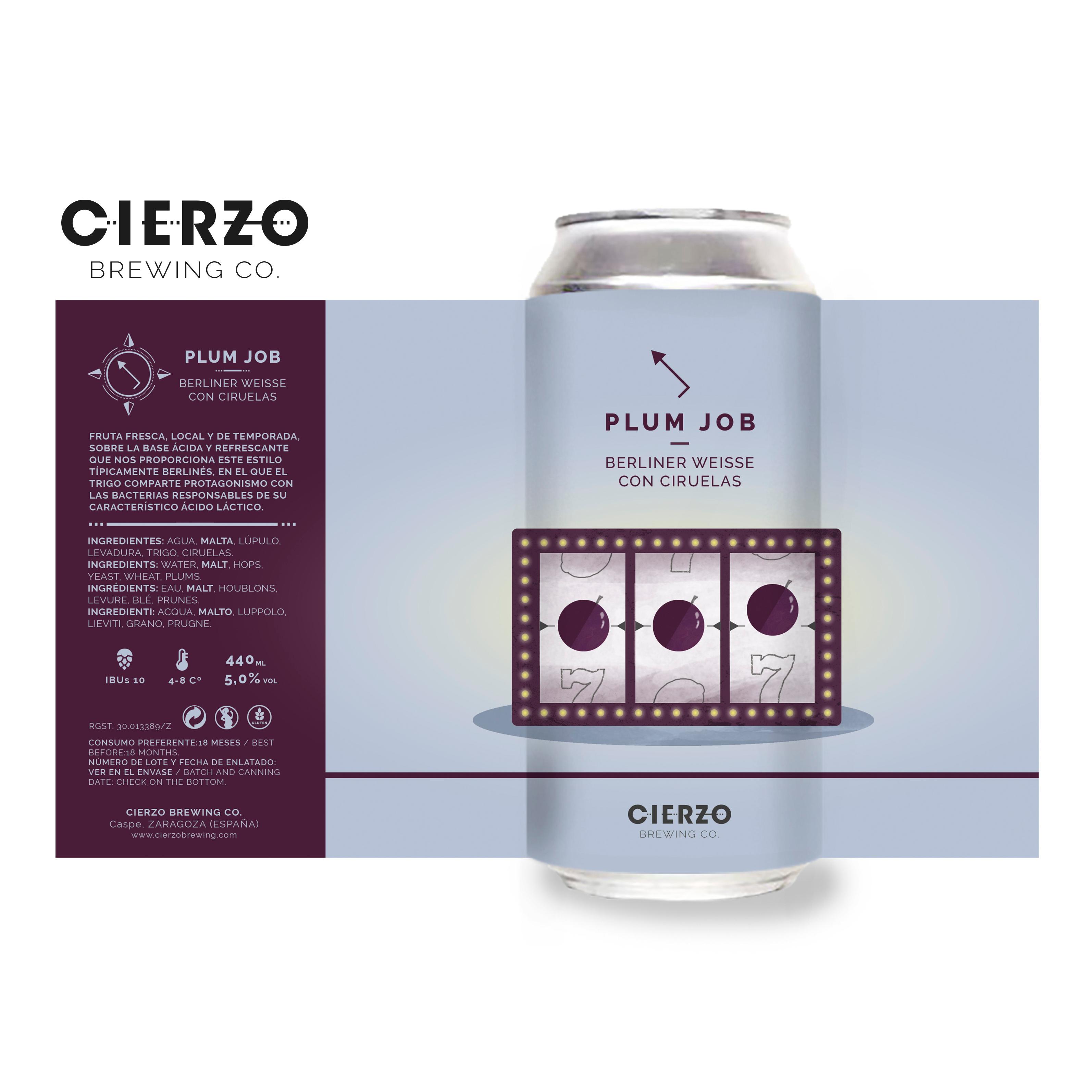 cerveza plum job berliner weisse ciruelas zaragoza