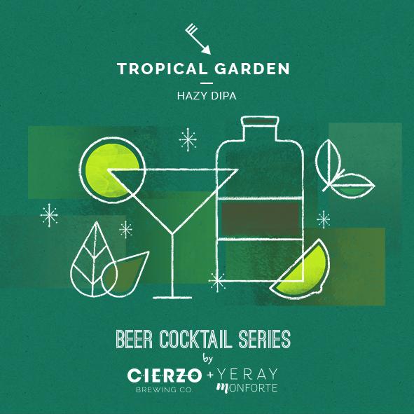tropical garden hazy doble ipa cerveza zaragoza