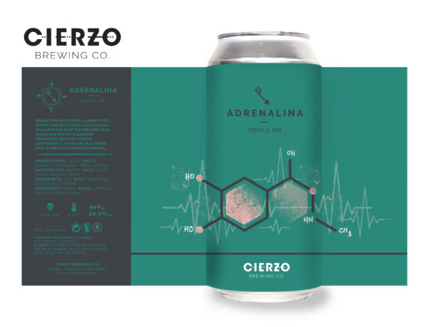 adrenalina triple ipa cerveza zaragoza