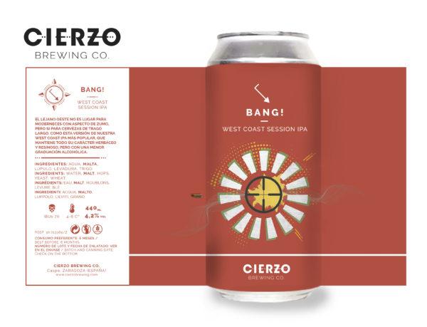 bang west coast session ipa cerveza zaragoza
