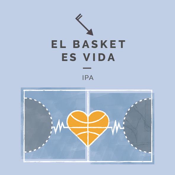 el basket es vida ipa cerveza zaragoza