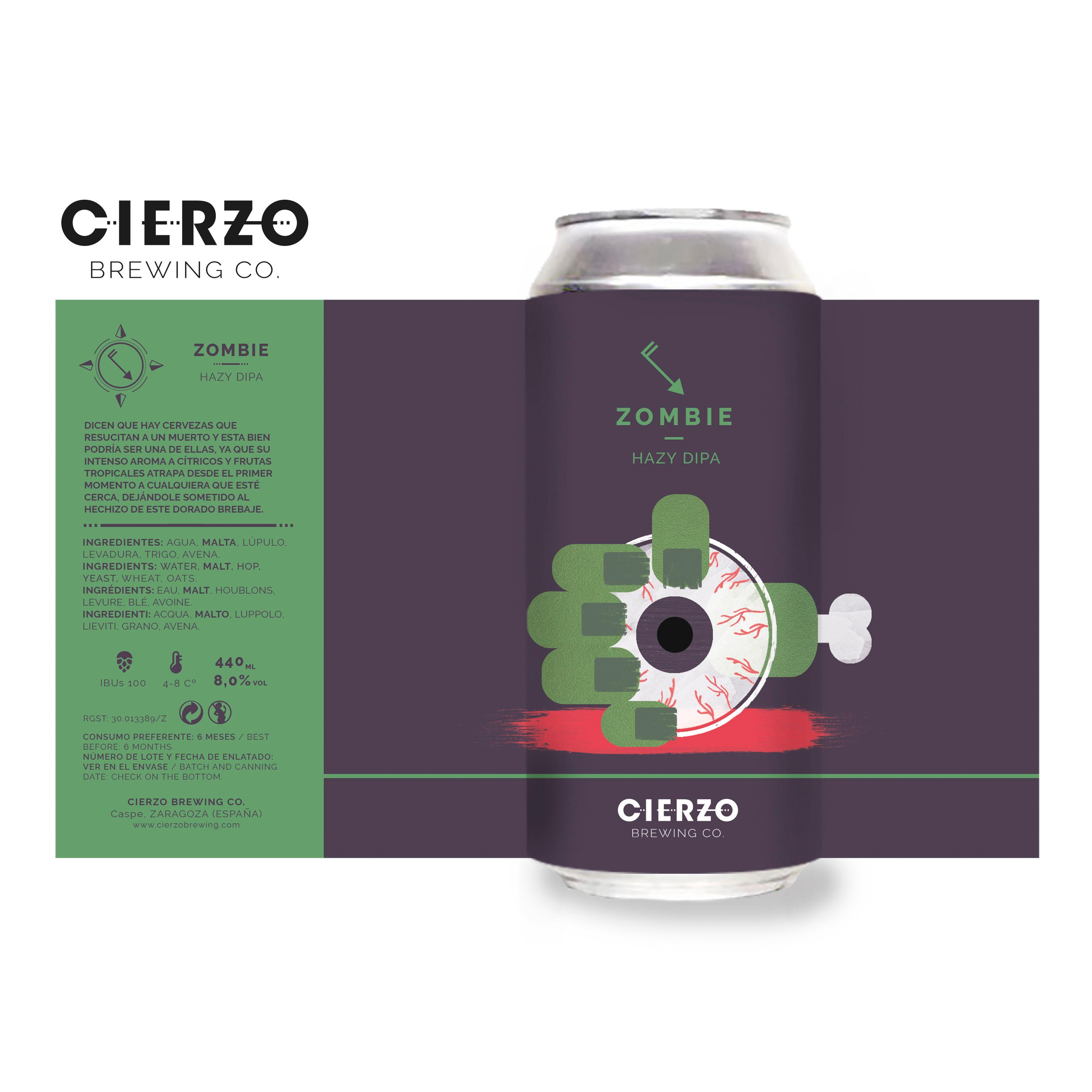 zombie hazy doble ipa cerveza zaragoza