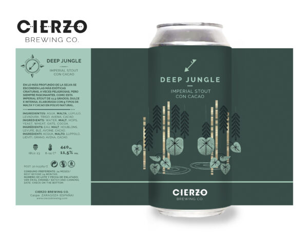 deep jungle imperial stout cacao cerveza zaragoza