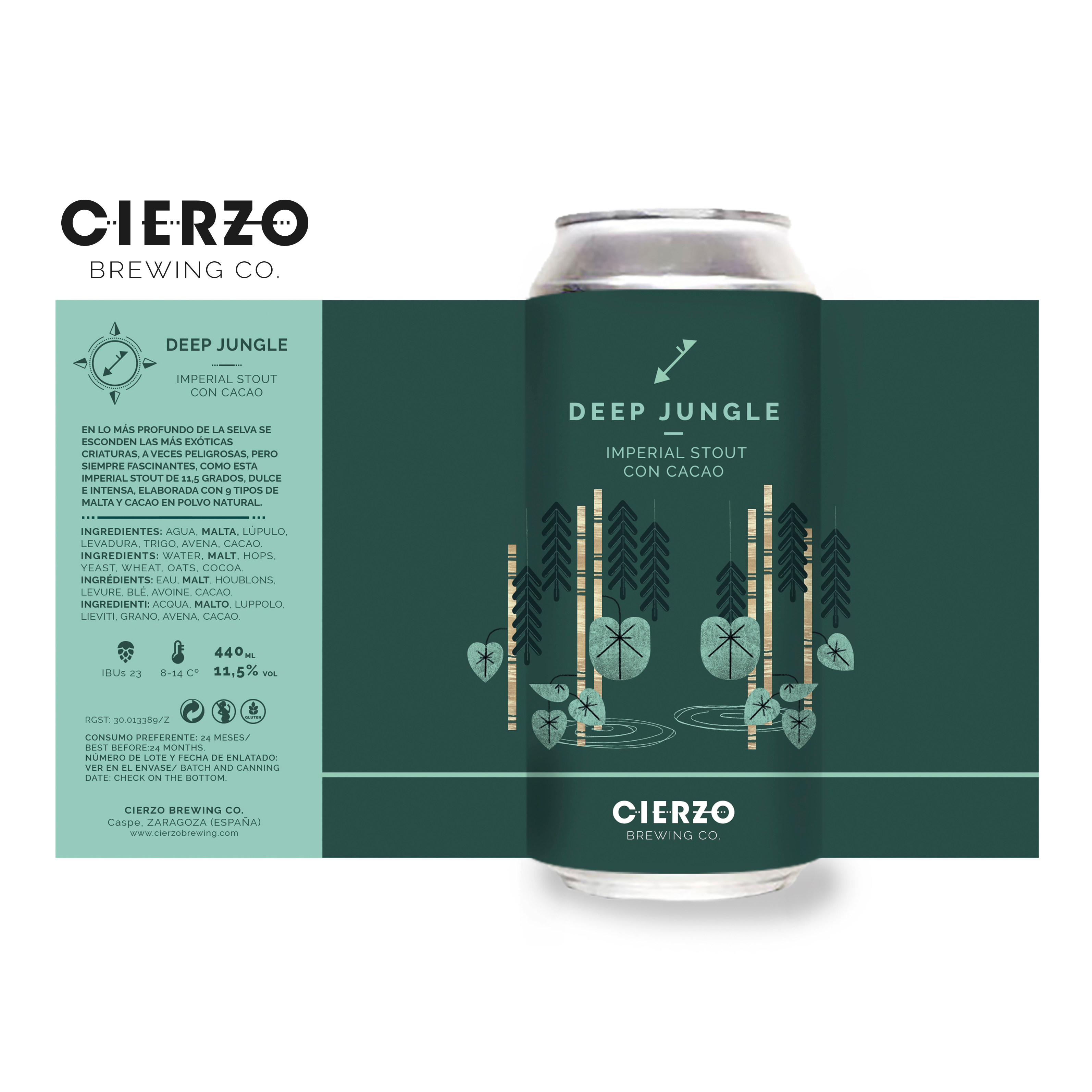 deep jungle cerveza imperial stout cacao zaragoza