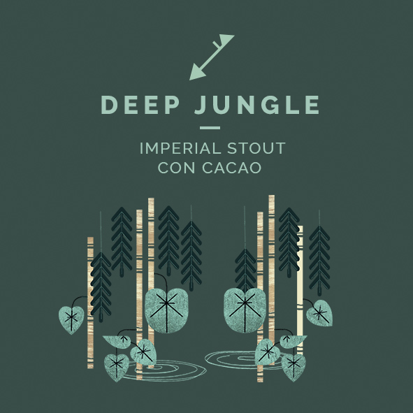 deep jungle cerveza imperial stout cacao zaragoza