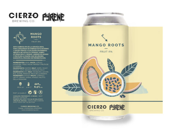 mango roots fruit ipa cerveza zaragoza