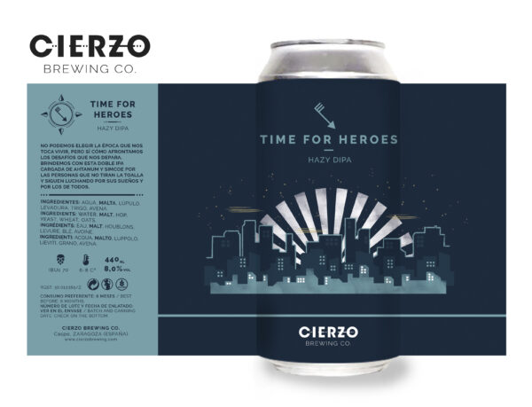 time for heroes hazy doble ipa cerveza zaragoza