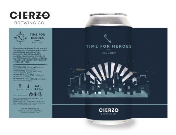 time for heroes hazy doble ipa cerveza zaragoza