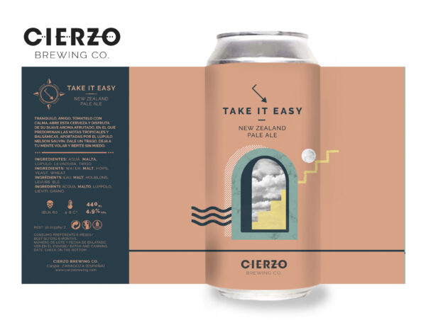 take it easy new zealand pale ale cerveza zaragoza