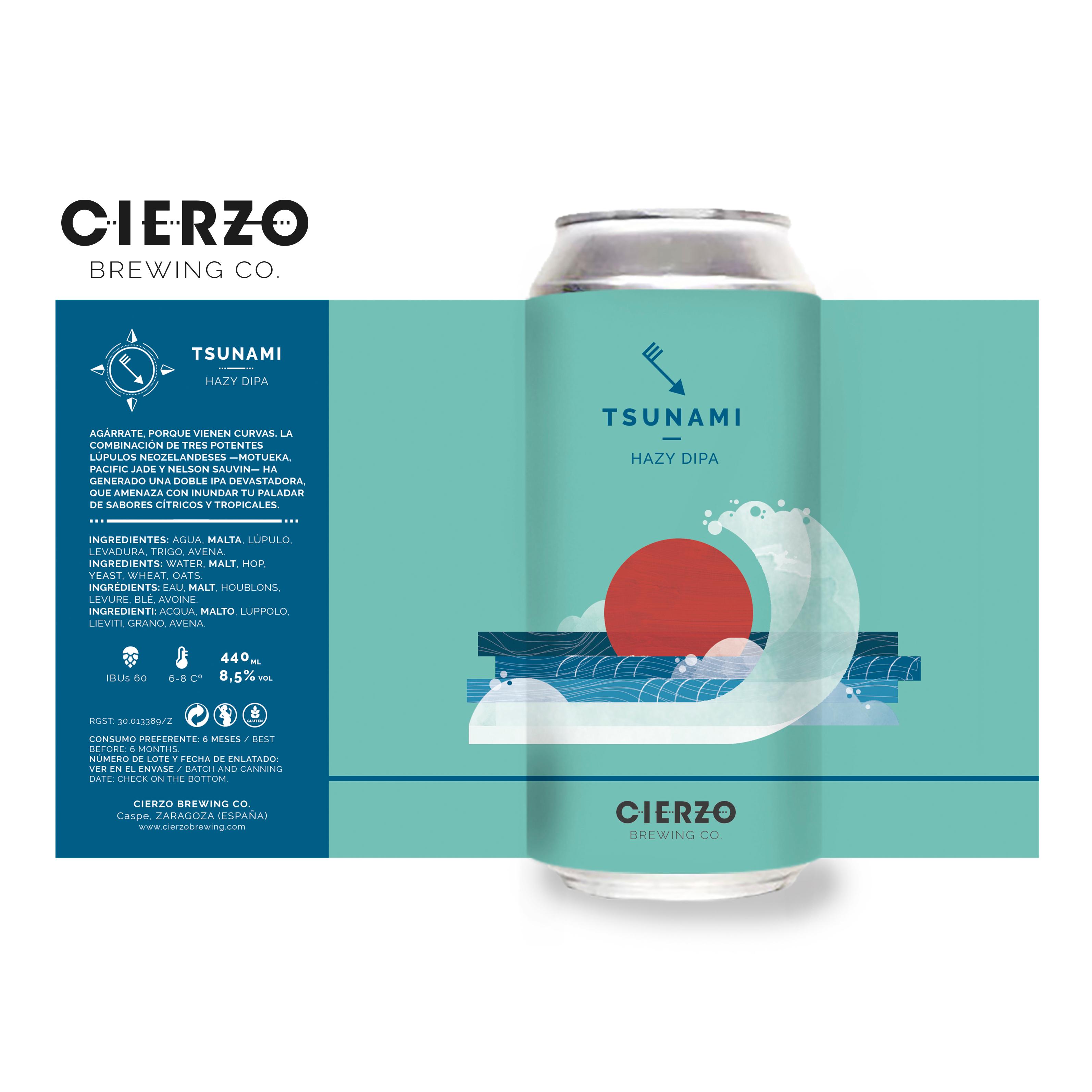 tsunami hazy dipa cerveza zaragoza