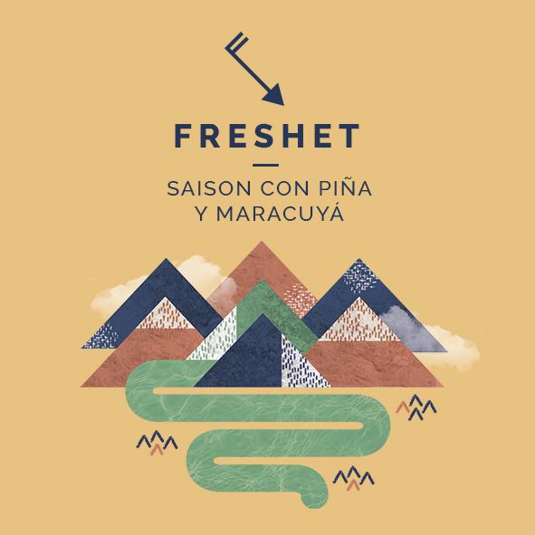 freshet saison piña maracuyá cerveza zaragoza