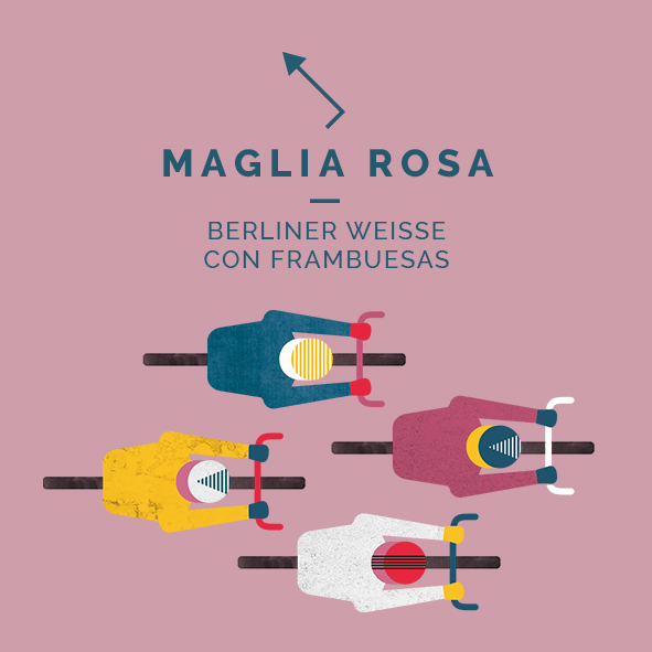 maglia rosa berliner weisse sour frambuesas cerveza zaragoza