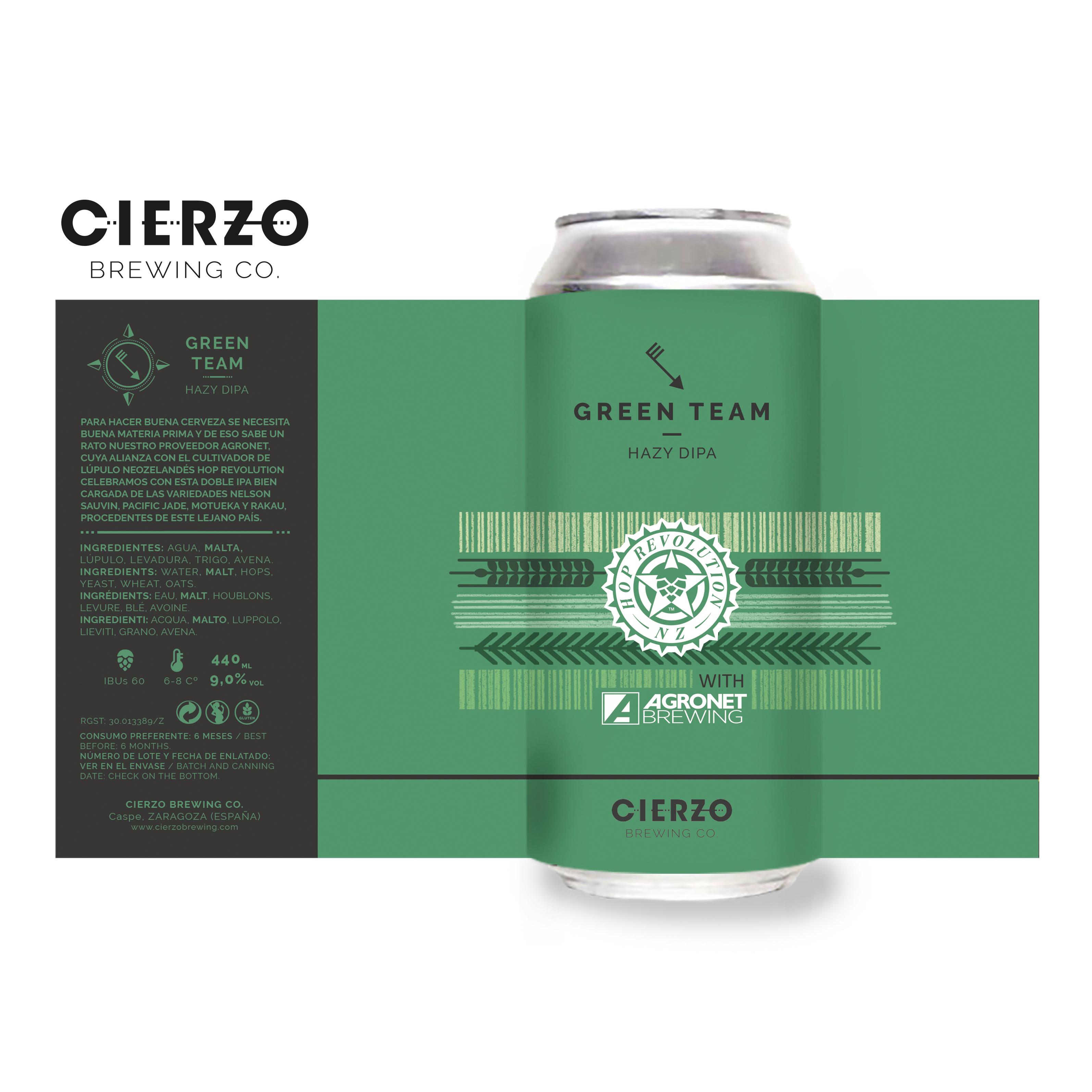 green team hazy doble ipa cerveza zaragoza