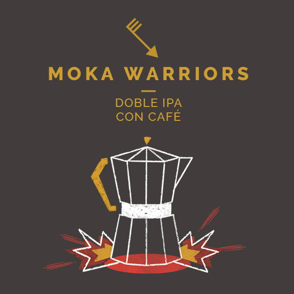 moka warrior doble ipa café cerveza zaragoza