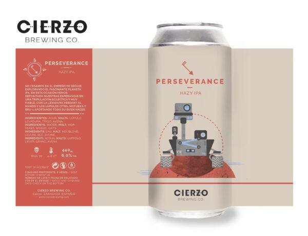perseverance hazy ipa cerveza zaragoza