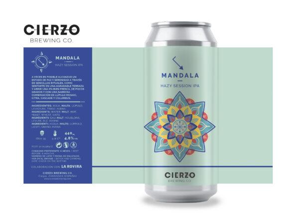 mandala hazy session ipa la rovira cerveza zaragoza