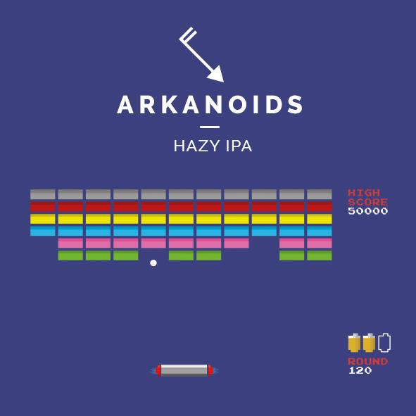 arkanoids hazy ipa cerveza zaragoza