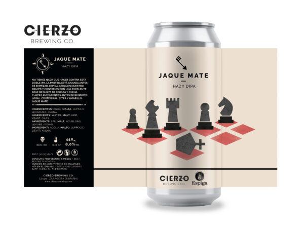 jaque mate hazy doble ipa espiga cerveza zaragoza