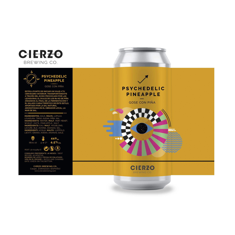 psychedelic pineapple gose piña cerveza zaragoza