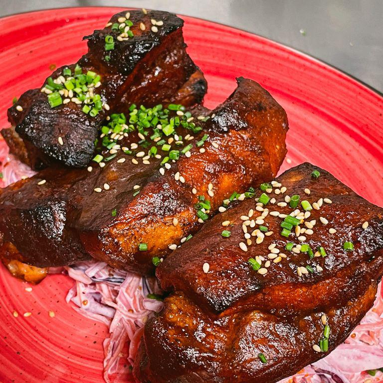 costillar de cerdo marinado en cerveza restaurante zaragoza