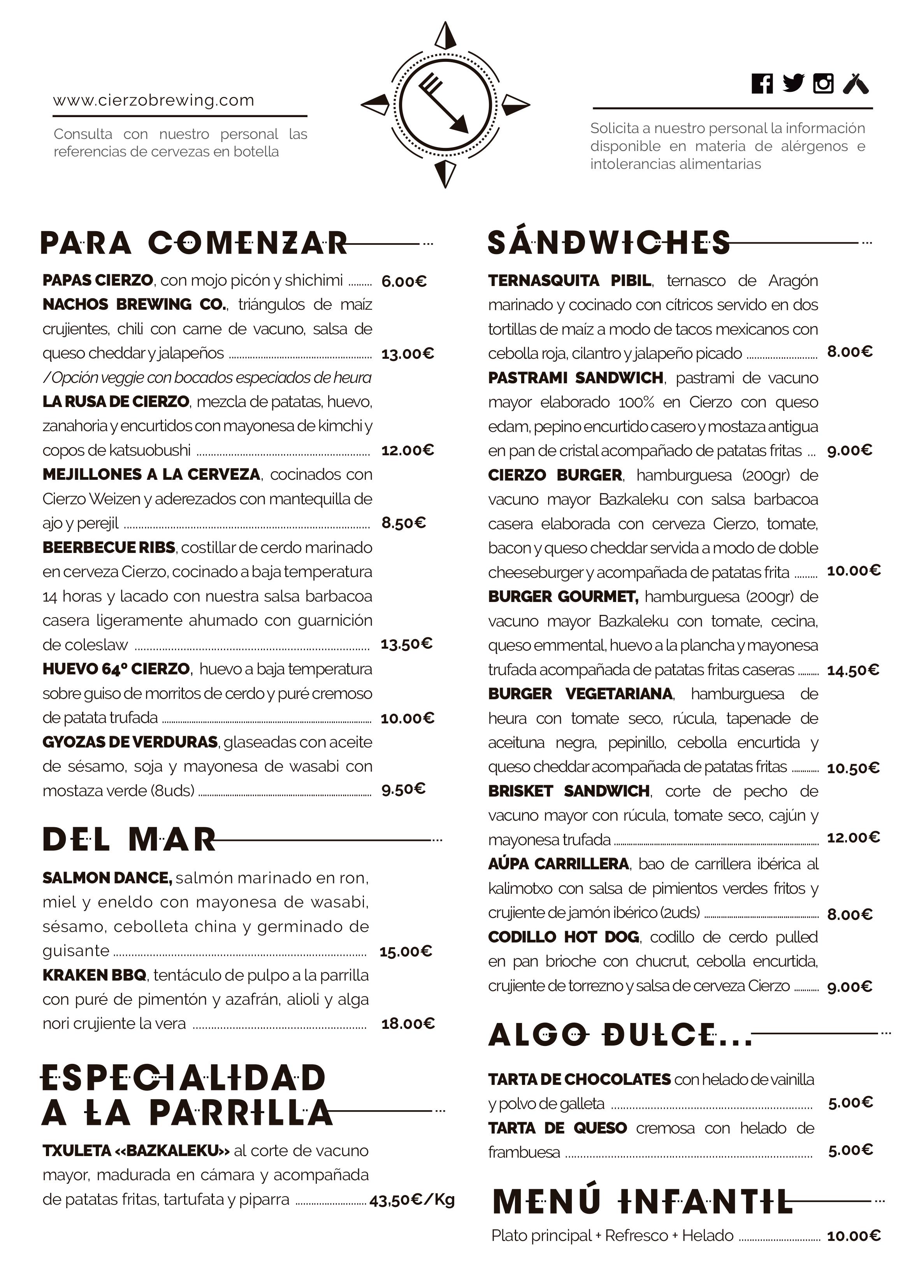 restaurante zaragoza menu carta comer cenar