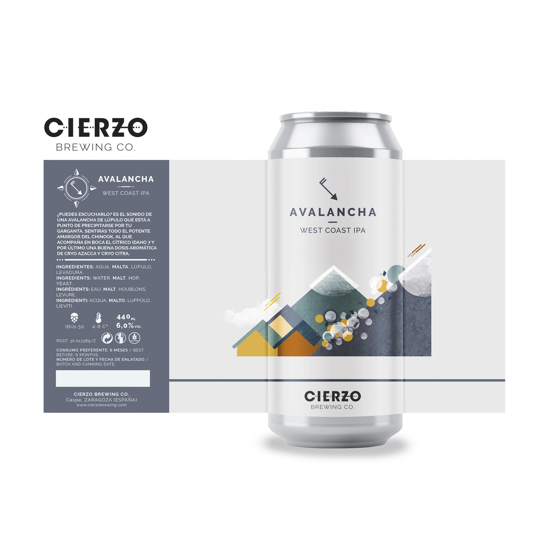 avalancha west coast ipa cerveza zaragoza