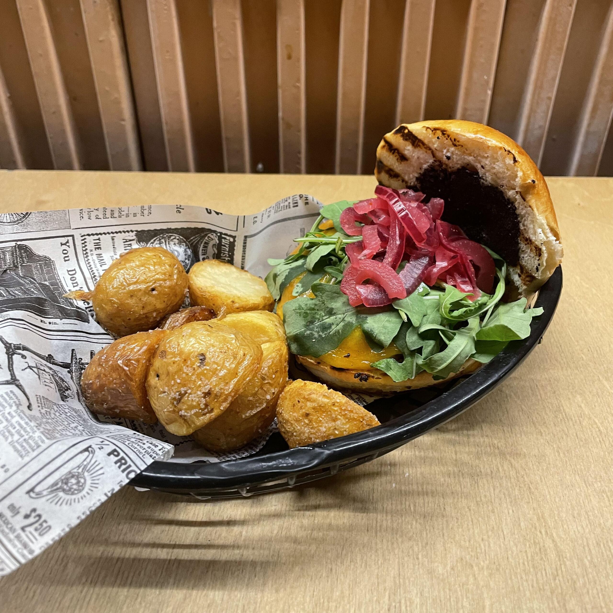 Hamburguesa vegetariana comer burger restaurante zaragoza