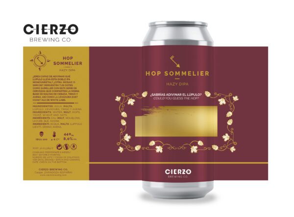 hop sommelier hazy doble ipa cerveza zaragoza