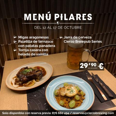 menu pilares comer restaurante zaragoza